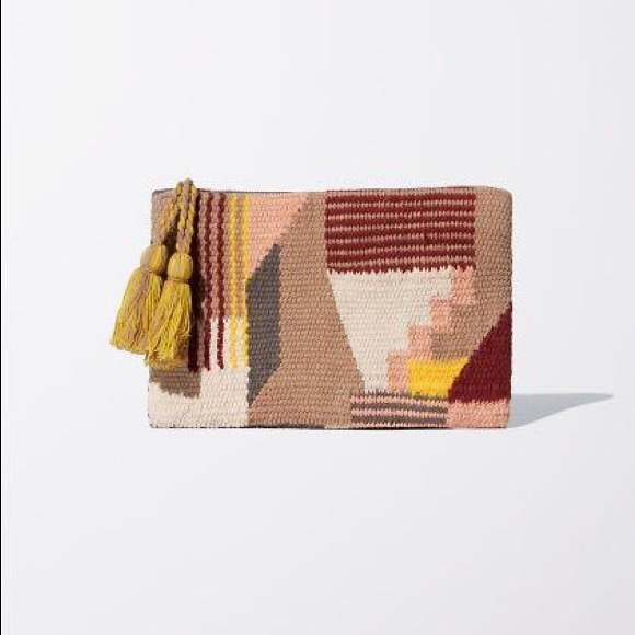Wilfred Handbags - Aritzia Wilfred Tapestry Pouch/Clutch